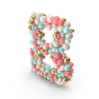 Letter B Made of Balls PNG & PSD Images