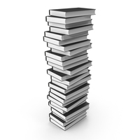 Stack of Books with Black Cover PNG & PSD Images