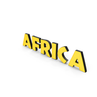 Africa Text PNG & PSD Images