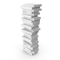 Stack of Books with White Cover PNG & PSD Images