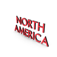 North America Text PNG & PSD Images