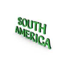 South America Text PNG & PSD Images
