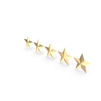 Five Golden Stars Rating PNG & PSD Images