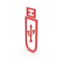 Symbol USB Flash Red PNG & PSD Images