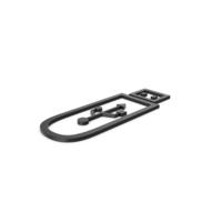 Black Symbol USB Flash PNG & PSD Images