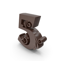 Chocolate Candle Number 5 PNG & PSD Images
