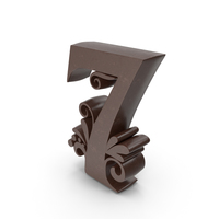 Chocolate Candle Number 7 PNG & PSD Images