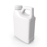 Plastic F Style Bottle 16oz With Ribbed Plastic Buttress Cap PNG & PSD Images