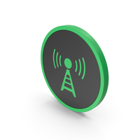Icon Antenna Green PNG & PSD Images