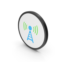 Icon Antenna Blue Green PNG & PSD Images