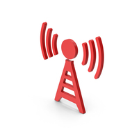 Symbol Antenna Red PNG & PSD Images