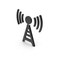 Symbol Antenna Black PNG & PSD Images
