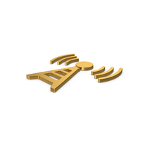 Gold Symbol Antenna PNG & PSD Images