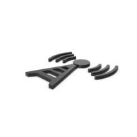 Black Symbol Antenna PNG & PSD Images