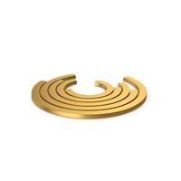 Gold Symbol Circular Chart PNG & PSD Images