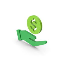 Symbol Money In Hand Green PNG & PSD Images