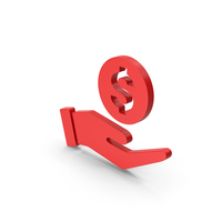 Symbol Money In Hand Red PNG & PSD Images