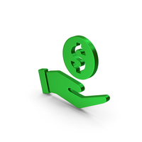 Money In Hand Green Metallic PNG & PSD Images