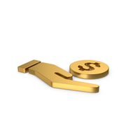 Gold Symbol Money In Hand PNG & PSD Images