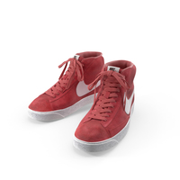 Nike Mid Blazer Red PNG & PSD Images