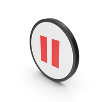 Icon Pause Button Red PNG & PSD Images