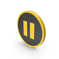 Icon Pause Button Yellow PNG & PSD Images
