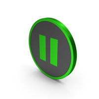 Icon Pause Button Metallic PNG & PSD Images
