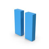 Symbol Pause Button Blue PNG & PSD Images