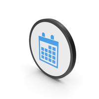 Icon Calendar Blue PNG & PSD Images