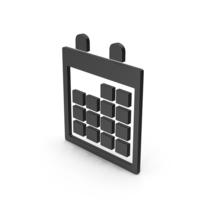 Symbol Calendar Black PNG & PSD Images