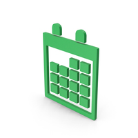 Symbol Calendar Green PNG & PSD Images