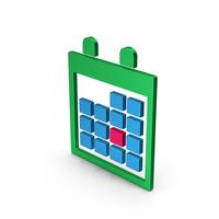 Calendar Green Blue Metallic PNG & PSD Images