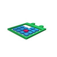 Symbol Calendar Green Blue Metallic PNG & PSD Images