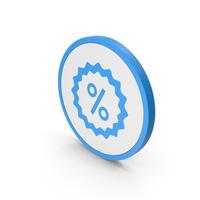 Icon Sale Blue PNG & PSD Images