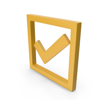 Check Mark Yellow PNG & PSD Images