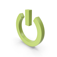 Power Icon Light Green PNG & PSD Images