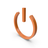 Power Icon Orange PNG & PSD Images