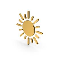 Symbol Sun Gold PNG & PSD Images