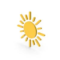 Symbol Sun Yellow PNG & PSD Images