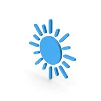 Symbol Sun Blue PNG & PSD Images