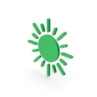 Symbol Sun Green PNG & PSD Images
