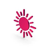 Sun Symbol Metallic PNG & PSD Images