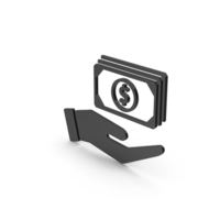 Symbol Banknotes In Hand Black PNG & PSD Images