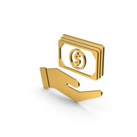 Symbol Banknotes In Hand Gold PNG & PSD Images