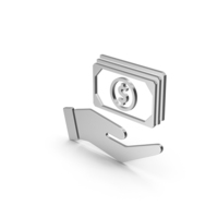Symbol Banknotes In Hand Silver PNG & PSD Images