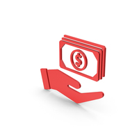 Symbol Banknotes In Hand Red PNG & PSD Images
