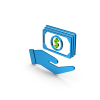 Banknotes In Hand Blue Green Metallic PNG & PSD Images