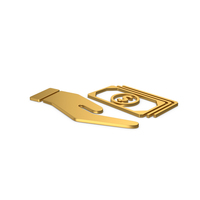 Gold Symbol Banknotes In Hand PNG & PSD Images