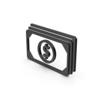 Symbol Banknotes Black PNG & PSD Images