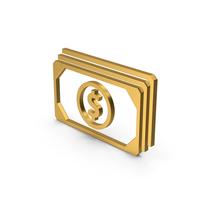 Symbol Banknotes Gold PNG & PSD Images